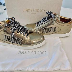 dec796136c8 Women s Gold Jimmy Choo Sneakers on Poshmark